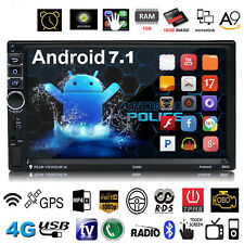 7'' Quad Core Android 7.1 3G WiFi 2DIN Car Radio Stereo MP5 MP3 GPS Navi Player