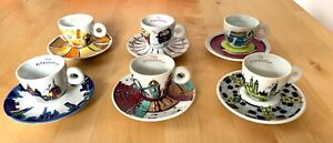 ILLY COLLECTION EMILIO PUCCI 6X ESPRESSO CUP NEW WITH SERIAL NUMBER
