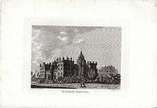 ANTIQUE SCOTTISH imprimer-Herriot 's Hospital, à Édimbourg en taille-douce (1789)