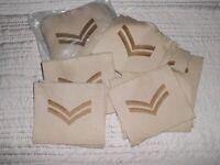 62 BRITISH ARMY CORPORAL 2 BAR CHEVRON CLOTH BADGE PATCH JOB LOT  ~ BRAND NEW
