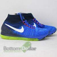 Nike Women's Zoom All Out Flyknit Running Shoes Racer Blue/White-Obsidian (8.5)