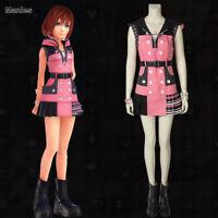 Adult Womens Disney Kingdom Hearts Kairi Dress Cosplay Halloween Costume S M L