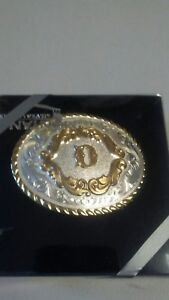 """Montana Sulversmith Small initial Buckle """"D"""""""