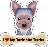 Dog Bone Magnet I Love My Yorkshire Terrier Car Sign Puppy USA Buy2Get3rdFree