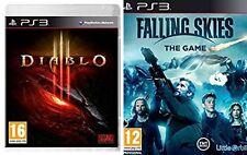 diablo 3 & FALLING SKIES THE  GAME       NEW&SEALED   PS3   PAL