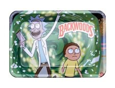 Bundle Deal Mini Rick and Morty Backwoods Rolling Tray & Raw Pre-Rolled Cones