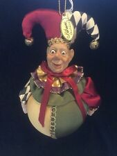 "Katherine's Collection Wayne Kleski Retired 6"" Jester Ball Ornament NOS (A)"