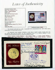 Paraguay Stamps Pope Paul VI Cachet signed by 10 Cardinals COA