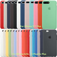 Ultra Thin Original Genuine Silicone Case Cover For Apple iPhone X 8 7 6 6S Plus