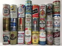 Lot of 24 Vintage Pull Tab Beer Cans - All Steel, All Different - Full Case (19)