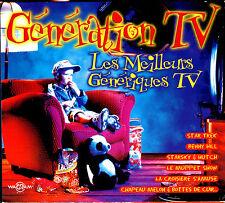 GENERATION TV - LES MEILLEURS GENERIQUES TV - 2 CD COMPILATION DIGIPACK
