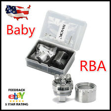 US SMOK1 TFV8 Baby Beast Tank V8 RBA Glass Grub Screws Rebuildable Coil Deck