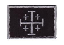 Hook Subdued Jerusalem Cross Tactical Morale Crusader Operator Christian Patch