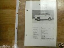 F5-FIAT 600 D COACH,MULTIPLA 1963-1967 -TECHICAL INFO OLDTIMER COACH