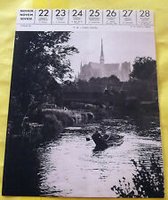 1959 AMIENS (SOMME).Image Poster Cathédrale Ville Barque régionalisme
