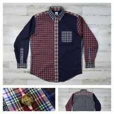 Brooks Brothers Men's Medium Plaid Patchwork Button Front Long Sleeve Shirt New