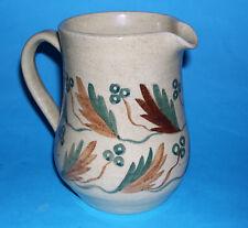 Vintage Fen Hand Made Pottery England - Attractive Subtle Patterned Jug - RARE.