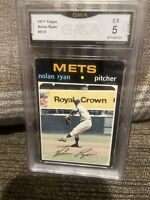 1972 Topps #513 Nolan Ryan New York Mets HOF GMA 5 EX Freshly Graded!