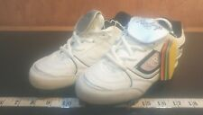Girl's Rawlings sports shoes size 2 white/pink/white lace up cleats (bin96)