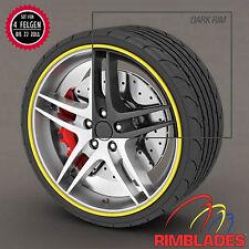 Rimblades FELGENSCHUTZ Styling GELB Felgenschutzringe Rim Guards Wheel Protector