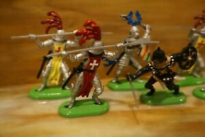 1995 Britains Knights of the Sword Super Deetail Toy Figures Lot (6)