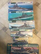 set of kits to build ships tamiya revell 6 pcs