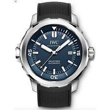 NEW IWC Aquatimer Steel Automatic 42mm Blue Dial Mens Date Watch IW329005