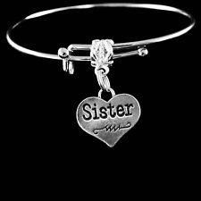 Sisters Bracelet  Best sister jewelry gift   sorority heart charm