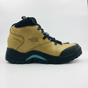 The North Face Womens Hiking Boots Size 8.5 Tan beige Leather Lace Up Ankle