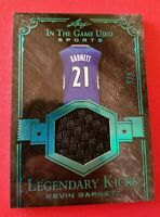 KEVIN GARNETT GAME USED SHOE PATCH CARD #d4/5 2018 LEAF KICKS Jersey #21 CELTICS
