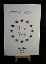 Personalised & HandMade Thank You Card