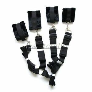 UNDER BED Restraint System Mattress Bondage straps under Bed Handcuffs Couples