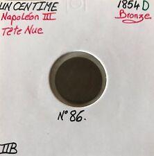 1 CENTIME NAPOLEON III - 1854D - Pièce de monnaie en Bronze // TTB