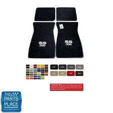 """64-83 Chevrolet Carpeted Floor Mats Embroidered W/ """"SS 396"""" Engine 4 Piece Set"""