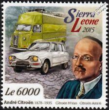 André-Gustave Citroën & CITROEN H Van & AMI 6 Classic Car Stamp (2015)
