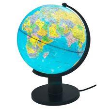 £51 lamp world Globe Home Desk  Table Bedroom Study World Map Light school