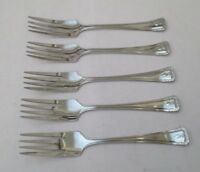 VINTAGE ~ CUTLERY ~ SET OF 5 SMALL FORKS ~ CHROME PLATE ~ SIZE 5.6""