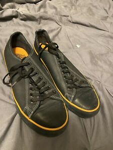 HARLEY DAVIDSON HD Black LOW TOP  LEATHER  LACE UP SHOES Size 8.5 MENS