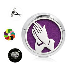 Praying hands Alloy car Vent Clip Air Freshener Peaceful Clouds Diffuser Locket