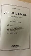 JS Bach: English Suites For Piano: Music Score (K6)