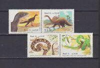 S19260) Brasilien Brazil 1991 MNH Neu Snakes, Prehistoric Animals 2x2v
