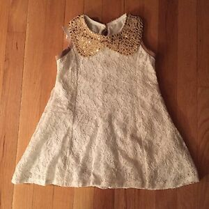Blossom Couture Girls Lace Dress - White - Size 4-5Y