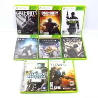 Xbox 360 Lot Of 8 Games Call Of Duty 2 3 Modern Warfare Halo 4 Titanfall Destiny