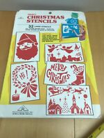 12 Vintage Frosty Christmas Stencils sets, 32 Large Stencils each (m)