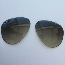 Ray Ban Aviator (55x14) in Grey Gradient Glass Back MAR 100% BRAND NEW