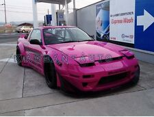 FRP FIBER GLASS ROCKET BUNNY WIDE-BODY AERO STYLE CANARD ADD FOR NISSAN 180SX