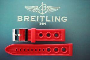 NWOT 22MM RED SCUPPER VENT WATCH BAND WATCHBAND BRACELET STRAP FOR BREITLING