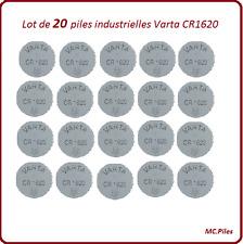 20 pilas de botón CR1620 litio Varta Industrial