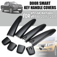 4Pcs Door Key Handle Covers Matte Black For NISSAN NAVARA NP300 Pickup