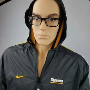 Pittsburgh Steelers Nike Pro Line Kids Jacket Black Zip Front Hooded NFL M New